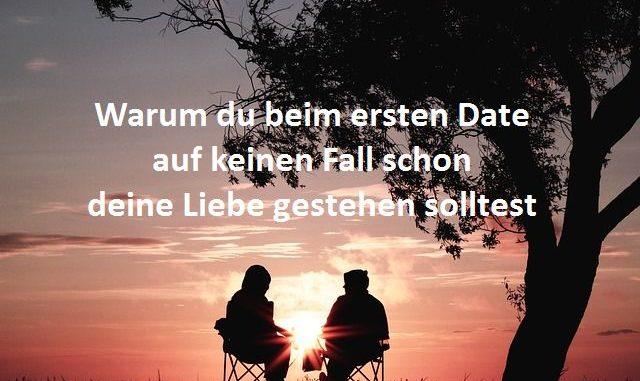 Liebe gestehen beim ersten Date