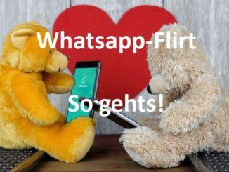 Flirten über Whatsapp